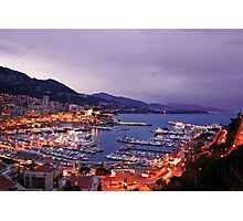 Monte Carlo at Night Photographic Print