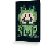 Super Mario Frog Vintage Pixels Greeting Card
