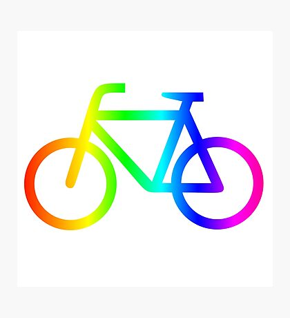 Rainbow Bicycle #2 Photographic Print
