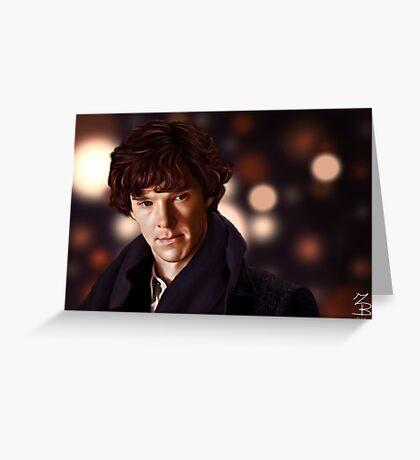 Sherlock Portrait Greeting Card