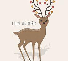 I love you deerly by KarinBijlsma