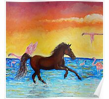 Evening Gallop Poster