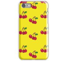 Cherry background iPhone Case/Skin