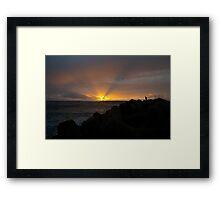 Sunset at Praia da Barra Aveiro Portugal Framed Print