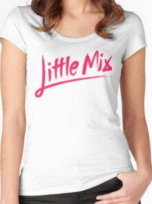 Little Mix - Pink Women's Fitted Scoop T-Shirt
