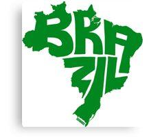 Brazil Green Canvas Print