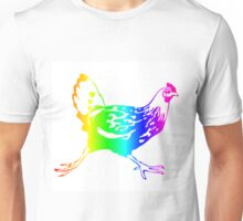 Rainbow Chicken #2 Unisex T-Shirt