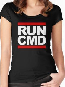 RUN CMD Women's Fitted Scoop T-Shirt