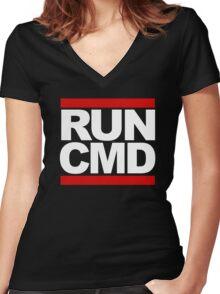 RUN CMD Women's Fitted V-Neck T-Shirt