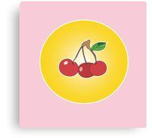 Cherry circle pink Canvas Print