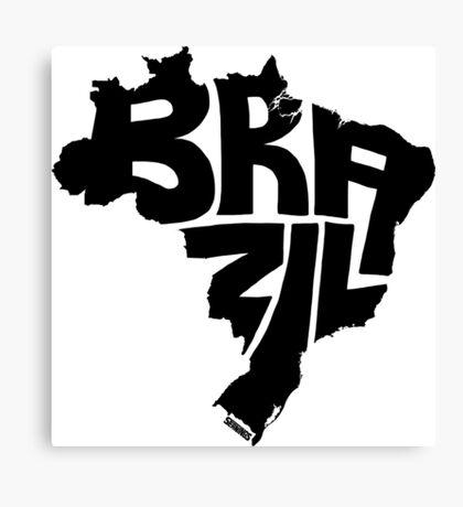 Brazil Black Canvas Print