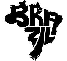 Brazil Black Photographic Print