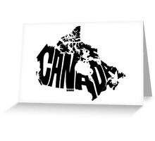 Canada Black Greeting Card
