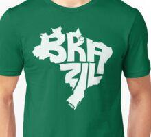 Brazil White Unisex T-Shirt