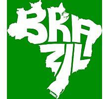 Brazil White Photographic Print
