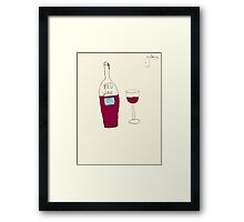 by Bethany - RED wine Framed Print