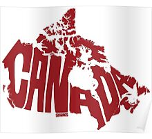 Canada Red Poster