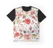 Floral Theme Graphic T-Shirt