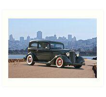 1935 Chevrolet Sedan Art Print