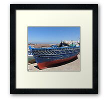 Blue woodboat Framed Print