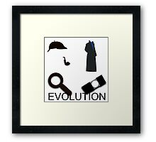 Evolution of Sherlock Holmes Framed Print