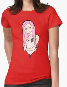 Anemone - Wild Red Flower Womens Fitted T-Shirt