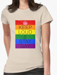 KEEP LOUD AND STAY GAY - Concept Womens Fitted T-Shirt