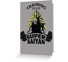 Training To Go Super Saiyan Greeting Card