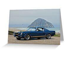 1965 Ford 'Moro Bay' Mustang G.T.350 Greeting Card