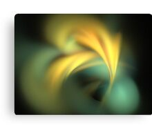 Teal Sun Rays Canvas Print