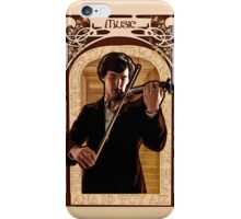 Art Nouveau Sherlock: The Violinist iPhone Case/Skin