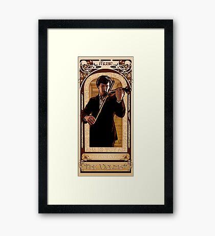 Art Nouveau Sherlock: The Violinist Framed Print