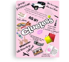 Clueless World Canvas Print