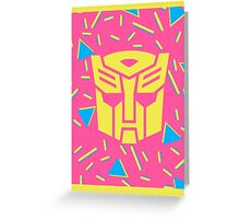 80s Autobot Insignia Greeting Card