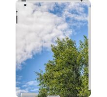 Cloudy Sky Over the trees iPad Case/Skin