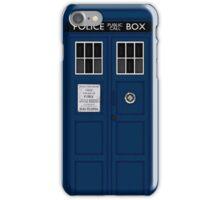 Police Public Call Box (main TARDIS) iPhone Case/Skin