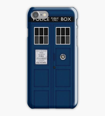 Police Public Call Box (main TARDIS) iPhone Case/Skin