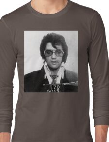 Elvis - Mug Shot Long Sleeve T-Shirt