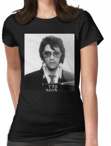 Elvis - Mug Shot Womens Fitted T-Shirt