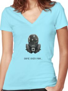 Aliens - Game Over Women's Fitted V-Neck T-Shirt