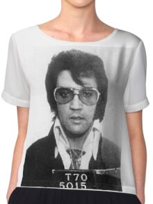 Elvis - Mug Shot Chiffon Top