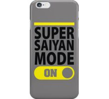 Super Saiyan Mode On iPhone Case/Skin