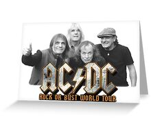 ACDC WORLD TOUR Greeting Card