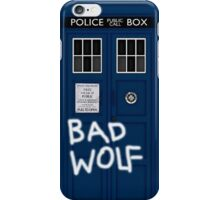 Police Public Call Box (w/ Bad Wolf) iPhone Case/Skin