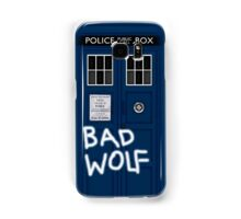 Police Public Call Box (w/ Bad Wolf) Samsung Galaxy Case/Skin