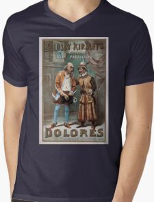 Performing Arts Posters Bolossy Kiralfys great production Dolores by Victorien Sardou 1507 Mens V-Neck T-Shirt