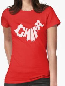 China White Womens Fitted T-Shirt