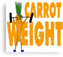 Carrot Weight - Tshirts & Hoodies  Canvas Print