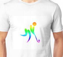 Rainbow Field Hockey Unisex T-Shirt