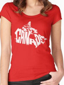Canada White Women's Fitted Scoop T-Shirt